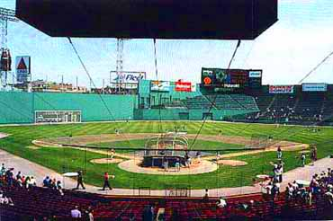 View from the Bleachers at Fenway Park Boston